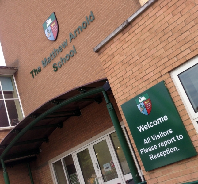 The Matthew Arnold School Signage Re-branding