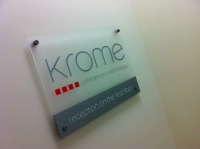 Krome - Frosted Acrylic Plaque