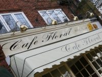 Cafe Floral Sign and Dutch Canopy