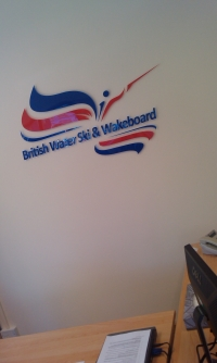 British Waterski Flat Cut Lettering