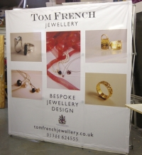 Tom French - Fabric pop up stand
