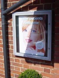 York Dental - Lockable Poster or Menu Cabinet