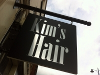 Kim's Hair Dorking - Projecting sign panel