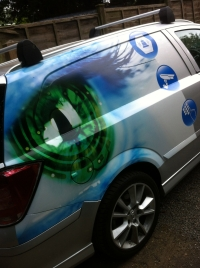 Vehicle Vinyl wrap full colour - GD Security