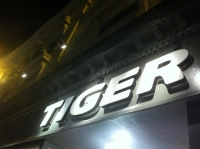 Tiger Brighton - Built up lettering