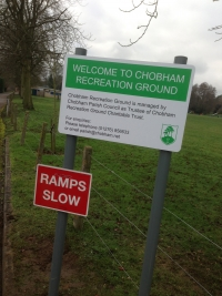 Chobham Parish Council - Free standing aluminium sign panel