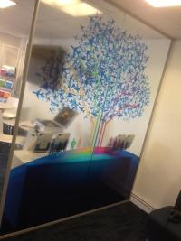 Full colour window decor
