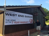 West End Garage Sponsorship Banner